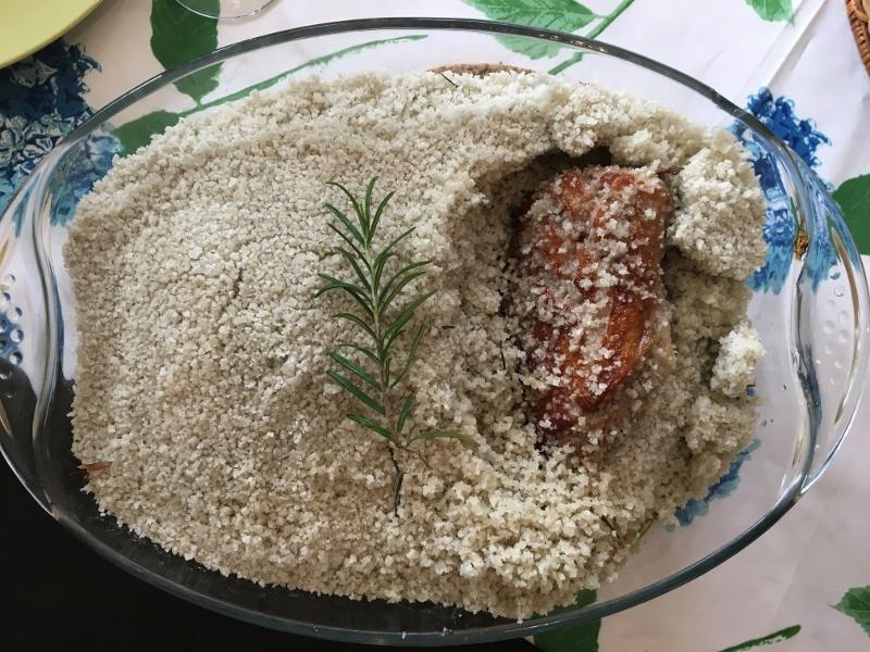 Magret en croûte de sel