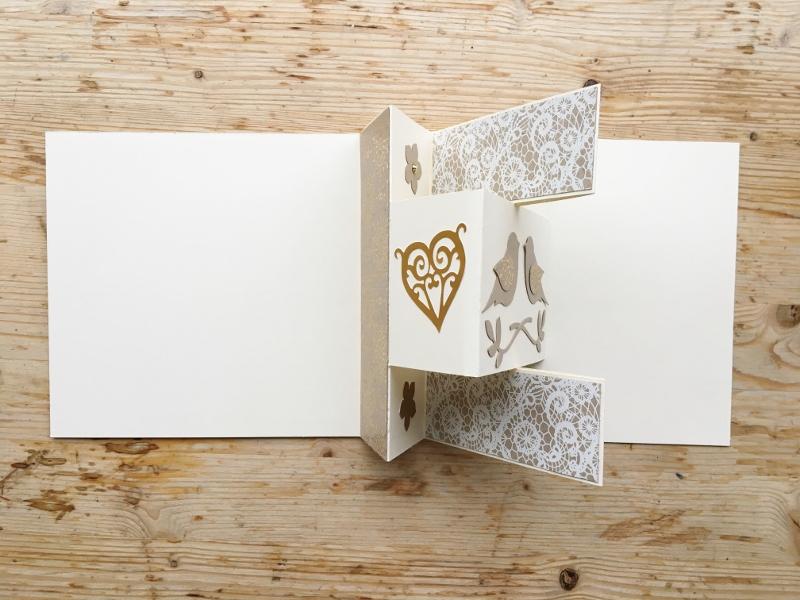 Goldene Hochzeit-Karte