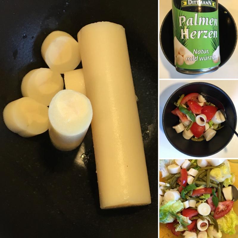 Palmen Herzen Salat