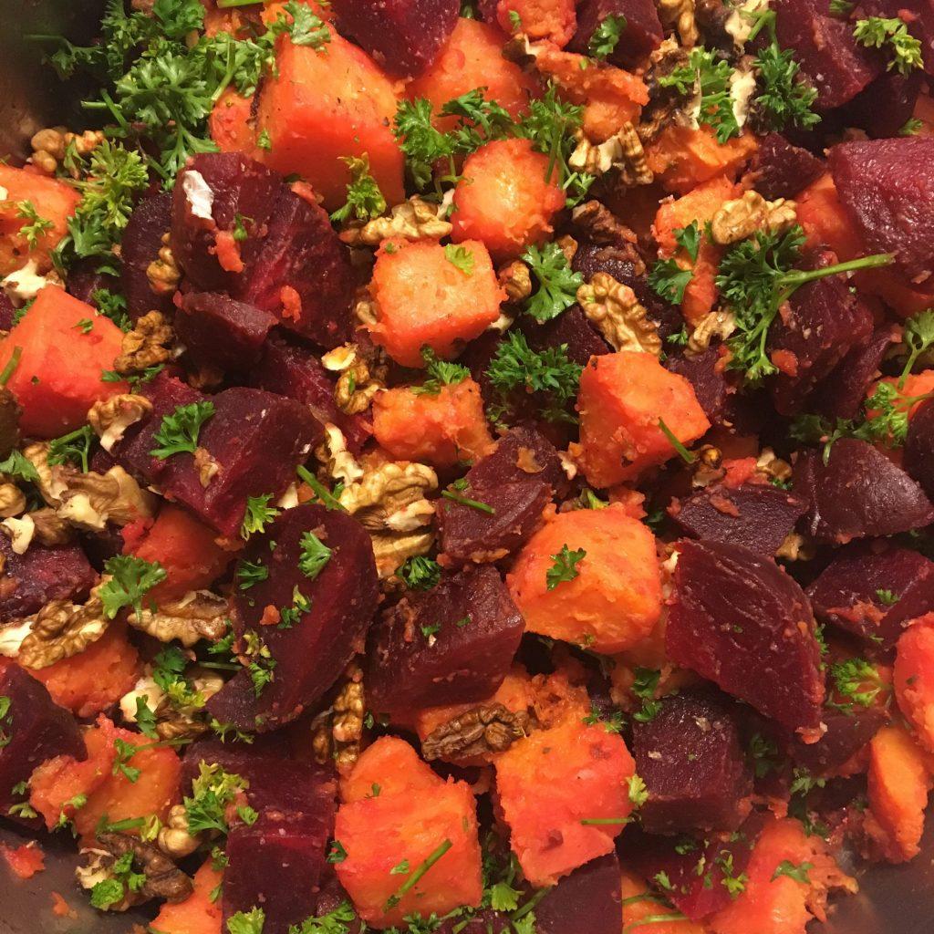 Rote Beete-Süßskartoffel Salat