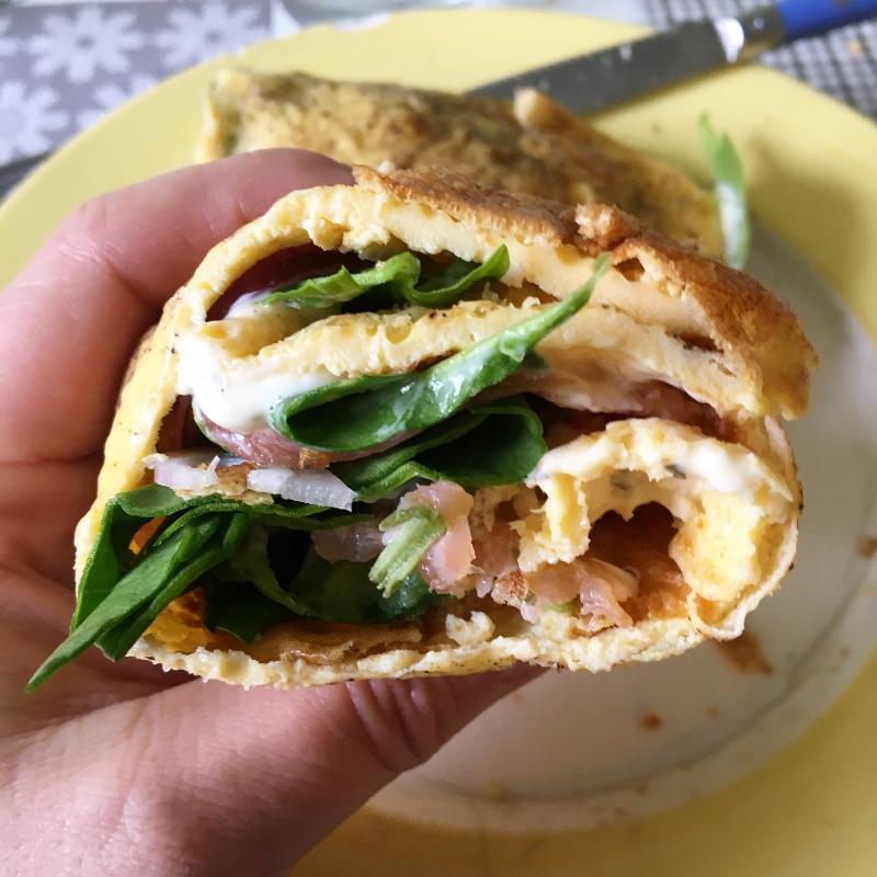 Omelett-Wrap